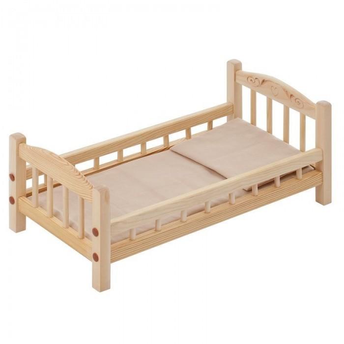 Paremo Классическая кроватка для куклыКлассическая кроватка для куклыParemo Классическая кроватка для куклы   - Классическая кроватка для кукол с бежевым текстилем – это качественная и прочная игрушка, предназначенная для больших кукол (до 48 см). Кроватка выполнена из массива дерева, абсолютно безопасна и экологична. - Комплектация игрового набора: кукольная кровать, матрас, подушка - Материалы: дерево, пропитанное льняным маслом для защиты от коррозии; текстиль - Размеры кроватки: 23 х 23 х 48 см - Сборка: кроватка поставляется в разобранном виде, требуется несложная сборка. Кровать нерасборная. - Упаковка: кровать и аксессуары упакованы в прозрачный пакет ВНИМАНИЕ! Цвет текстиля может незначительно изменяться в зависимости от партии поставки. Куклы и мягкие игрушки приобретаются отдельно!  Отличительные особенности: Игрушечная кукольная кроватка полностью деревянная, а следовательно, экологичная и безопасная, простая и понятная даже самому маленькому ребенку. Игрушка произведена в России.<br>