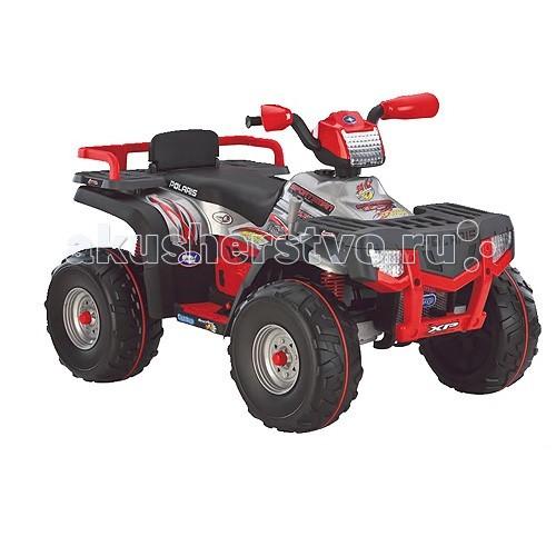 Электромобиль Peg-perego Polaris Sportsman 850Polaris Sportsman 850Детский электроквадроцикл Polaris Sportsman 850  Технические характеристики: Возраст: 5 - 10 лет/ Кол-во скоростей: 2+R  Макс. скорость+R: 5.4-11.3 км/ч + 5.4 км/ч реверс Макс вес пассажиров: 75 кг  Аккумулятор: 24В 12A/ч  Передние и задние амортизаторы  Умная педаль газа позволяет лучше контролировать скорость и мощные тормоза.  Защитная резиновая накладка на колесах. Передняя и задняя полка-багажник.  Аккумулятор и зарядное устройство входят в комплект.<br>