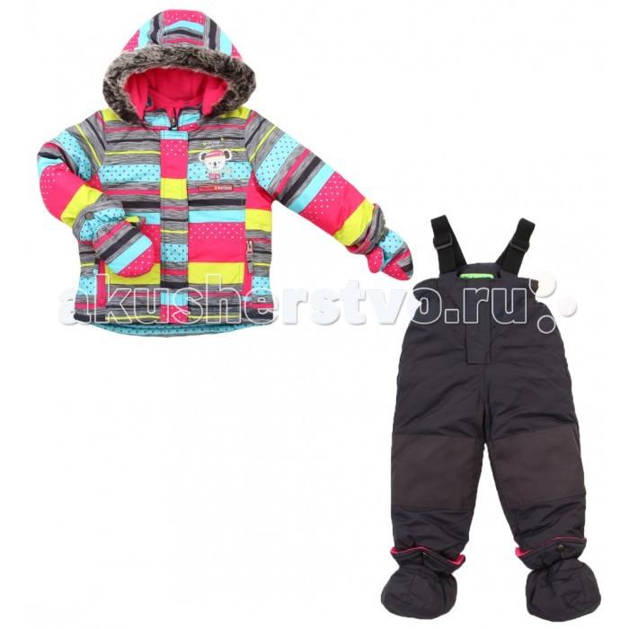 Peluchi & Tartine Куртка и полукомбинезон для девочек F16M40