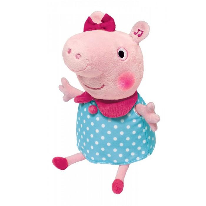 Интерактивная игрушка Peppa Pig Мягкая Пеппа анимационная речь свет звук 30 см
