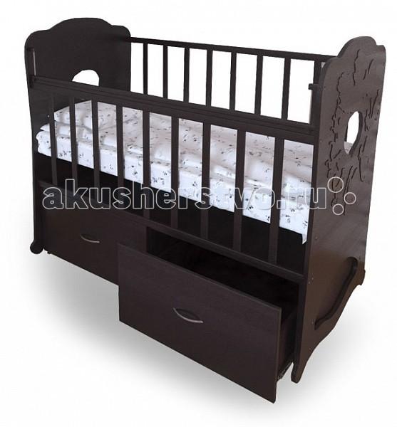 Детская кроватка Perinka Репка (маятник поперечный) - Венге