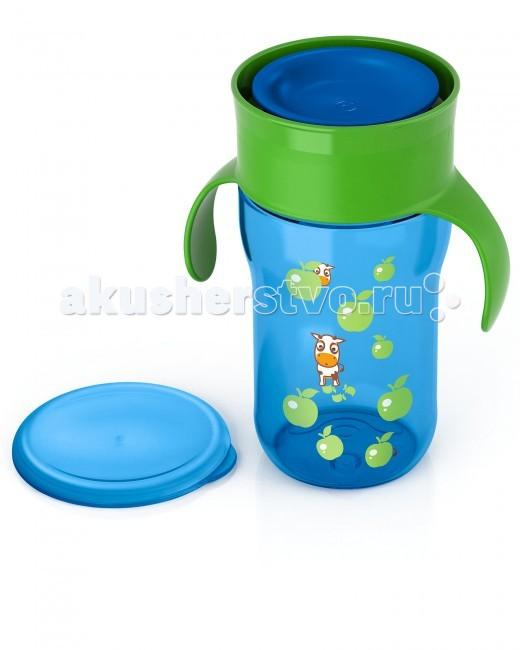 Поильник Philips-Avent Взрослая чашка 340 млВзрослая чашка 340 млПростой переход на питье из обычной чашки без носика и трубочки. Можно пить по всему краю, словно это обычная чашка.  Уникальный клапан с защитой от протекания — передовое решение, специально разработанное экспертами Филипс Авент. Клапан реагирует на прикосновение губ, обеспечивая удобство питья для ребенка и исключая проливание напитка.  Дома или на прогулке, защитная гигиеничная крышка всегда сохраняет чашку в чистоте.  Клапан с быстрым потоком позволяет малышу пить, не прилагая лишних усилий, не всасывая жидкость. Обучающие ручки приучают малыша держать чашку и пить без посторонней помощи.<br>
