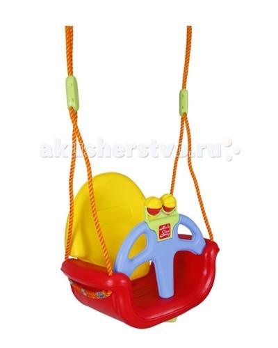 Качели Pilsan Do-Re-MiDo-Re-MiКачели детские подвесные Do-Re-Mi с высокой спинкой выполнены из прочного пластика.  Подлокотники удобные для ребенка.  Т - образная задвижка надежно фиксируется и предохраняет ребенка от выпадения.  Полипропиленовая веревка 1 см. в диаметре.  Возраст: от 1 до 3 лет.  Максимальный вес ребенка 25 кг.  Размеры: ширина сиденья 46 см, глубина 31 см, высота 42 см.  Игрушка выполнена из прочного экологически чистого пластика с соблюдением самых высоких стандартов безопасности.    объем: 0,045 куб.м.  Размер (шхдхв): 30,5х47,5х43,5 см   Внимание! Цвета в ассортименте!<br>