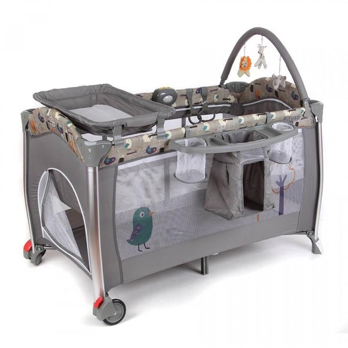 Манеж Pituso кровать Floraкровать FloraМанеж-кровать Pituso – идеальное место как для сна, так и для игр ребенка. Детские манежи-кровати используются дома, на даче и на природе. Основания и борта манежа обиты мягкой тканью, боковины сделаны из прочной защитной сетки, что обеспечивает отличную вентиляцию малышу во время игр и сна. Манеж-кровать незаменима, если Вы любите путешествовать с ребенком. Легко складывается, помещается в любой автомобиль, не занимает много места. С помощью сумки, которая входит в комплект, манеж удобно перевозить.  Имеется удобный съемный пеленальный столик, на котором вы сможете легко перепеленать малыша.  Переносной музыкальный мобиль с подсветкой и вибрацией, крепится к кроватке. Мобиль может успокоить ребенка в манеже и развлечь. Забавные цветные игрушки на мобиле способствуют развитию навыков общей моторики, сенсорного и звукового восприятия ребенка.  Подвеска на мобиле сделана из ярких материалов, которые безопасны для здоровья малыша и не вызовут аллергии. Встроенная подсветка на модуле служит ночником, что очень удобно ночью, чтобы проконтролировать малыша. 3 режима вибрации мобиля – полезная опция для того, чтобы успокоить ребенка.  Основные характеристики: 2 уровня дна, можно увеличить глубину манежа Съемный пеленальный столик Съемная полка для аксессуаров, крепится сбоку на манеж  Мобиль с игрушками Электромузыкальный блок с функцией вибрации и подсветки 2 колеса с фиксаторами Защитная сетка на боковых стенках Боковой лаз на молнии - пригодится, если малыш решит самостоятельно залезть в манеж Карман на резинке для игрушек Замок-фиксатор, который защищает от произвольного складывания Съемный капюшон-капор Сумка для переноски, позволит без дополнительных затрат брать с собой манеж в любую поездку Тип батареек на мобиле: 3 х AA / LR6 1.5V (пальчиковые).  Размеры: размеры в разложенном виде (ДхШ): 110х78 см размеры в сложенном виде (ШхДхВ): 28х28х77.5 см вес нетто/брутто: 12.76кг/13.36 кг.<br>