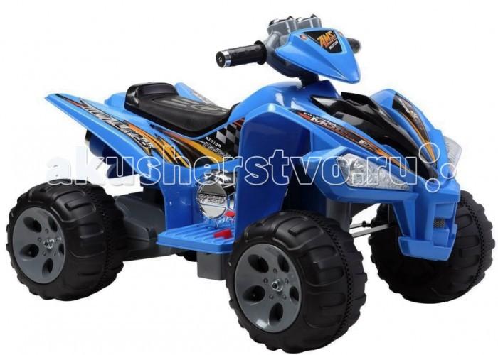 Электромобиль Пламенный мотор Квадроцикл 8608Квадроцикл 8608Квадроцикл Пламенный мотор 86082/86083/86084 - отличный выбор активным и любознательным детям. На такой машине юный водитель почувствует себя уверенно и получит массу удовольствия от прогулки.  Управление квадроциклом способствует развитию крупной и мелкой моторики, формирует мускулатуру, влияет на координацию движений, учит ориентироваться на местности, принимать осмысленные решения.  Предназначен для детей возрастом от 3-х до 8-ми лет.  Характеристики: Двигатель - 2х6V, 25W  Аккумулятор - 12V, 7AH  Скорость движения - 3-5 км/ч  Максимальная нагрузка - 30 кг Размер квадроцикла (дхшхв): 97 х 66 х 65 см<br>