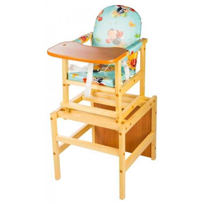 Стульчик для кормления ПМДК ОктябренокОктябренокСтул-стол Октябренок предназначен для детей в возрасте от 6 месяцев до 5 лет.  Особенности:  Изделие представляет собой набор стола и стула, легко конфигурируемых в двух вариантах используемых отдельно. Стол и столешница сделаны из толстого ламината. Стульчик - из массива березы. Столешница широкая и овальная, на ней будет удобно поставить тарелку и чашечку малыша. Обивка мягкая и сшита из непромокаемой бязи. Когда ребенок подрастет стул можно использовать как отдельно стоящие стульчик и столик. Малыш может использовать их для рисования, лепки, игр и последующего кормления<br>