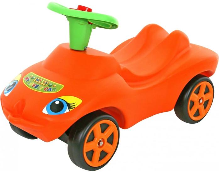 Каталка Wader Мой любимый автомобильМой любимый автомобильПрочная и удобная каталка с передними поворотными колесами, на руле пищалка. Ребенок катается отталкиваясь ногами от пола. Каталка изготовлена со сглаженными углами.  Предназначена для детей от 2 лет Яркая каталка в виде оранжевого/зеленого автомобиля На руле - пищалка Ребенок катается отталкиваясь ногами от пола Сглаженные углы Материал: высококачественный пластик  Размер: 71х33.5х40.5 см.<br>