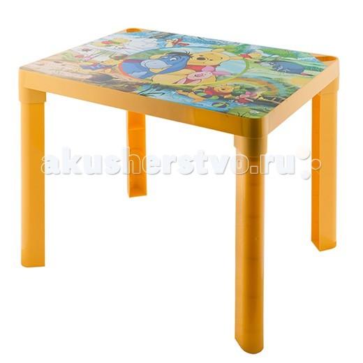 Полимербыт Стол детский DisneyСтол детский DisneyКомпактный пластиковый стол непременно станет неотъемлемым атрибутом в комнате вашего ребенка.   Теперь у малыша будет отдельный столик, который идеально подойдет ему по размеру и он сможет приглашать на чаепитие своих друзей, в том числе и плюшевых, а также заниматься творческой работой: рисовать, лепить, раскрашивать и так далее.   Благодаря специальным выемкам, на столе можно расположить карандаши, фломастеры, кисточки и другие мелкие предметы, и они не будут мешаться и скатываться.  Размеры: 60х45х47 см.<br>