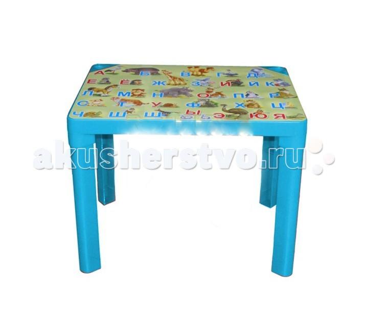 Полимербыт Стол детский АзбукаСтол детский АзбукаКомпактный пластиковый стол непременно станет неотъемлемым атрибутом в комнате вашего ребенка.   Теперь у малыша будет отдельный столик, который идеально подойдет ему по размеру и он сможет приглашать на чаепитие своих друзей, в том числе и плюшевых, а также заниматься творческой работой: рисовать, лепить, раскрашивать и так далее.   Благодаря специальным выемкам, на столе можно расположить карандаши, фломастеры, кисточки и другие мелкие предметы, и они не будут мешаться и скатываться.  Размеры: 60х45х47 см.<br>