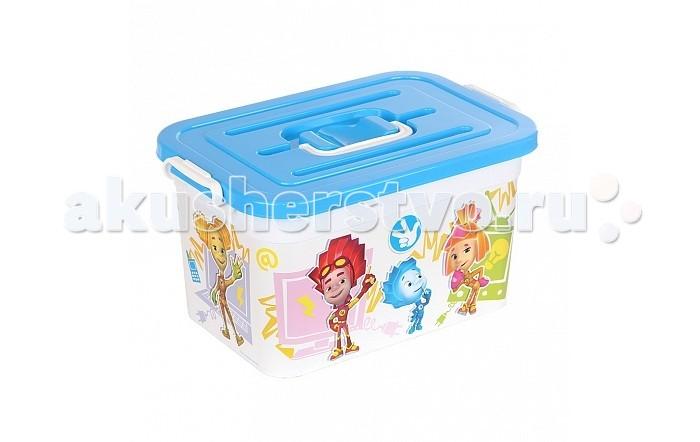 Полимербыт Ящик для игрушек 10л Фиксики