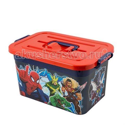 Полимербыт Ящик для игрушек 10л Marvel