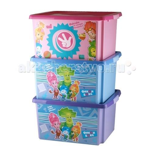 Полимербыт Ящик для игрушек 30л Фиксики