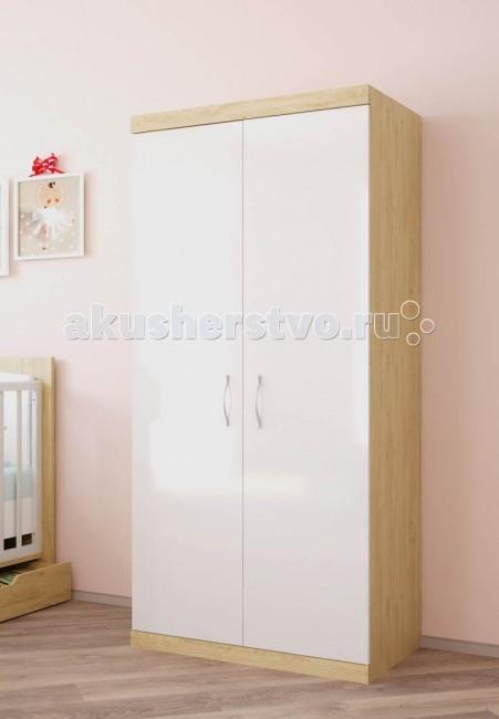 Шкаф Polini Classic двухсекционныйClassic двухсекционныйШкаф Polini Classic двухсекционный - это высочайший уровень качества и безопасности продукции, исключительная функциональность и дизайн. Все предметы мебели изготовлены из ЛДСП премиальной серии Contempo и Mirror Gloss (Австрия), а также из массива березы использована кромка Rehau (Германия) и фурнитура высочайшего качества.   Особенности: Вместительный шкаф с двумя отделениями имеет в комплекте 5 полок и штангу для одежды.  Двери снабжены системой плавного закрытия.  Надежные импортные комплектующие и эргономичная лицевая фурнитура исключают травмирование ребенка.   Габаритные размеры : 89.8 x 51.6 x 190 см<br>