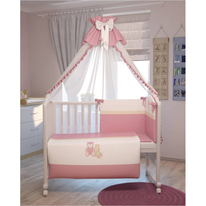 Комплект для кроватки Polini Плюшевые мишки (7 предметов)