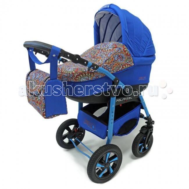 Коляска Polmobil Nemo Lux 2 в 1Nemo Lux 2 в 1Универсальная детская коляска Nemo Lux 2в1 от Польского производителя Polmobil предназначена для детей с рождения и до 3-х лет.  В комплект коляски входит спальная люлька для новорожденного и прогулочный блок для подросшего малыша, которые можно устанавливать по ходу движения или против хода движения. Люлька коляски комфортная и удобная, сделана внутри из 100 % хлопка. Дно люльки – жесткое, это очень важно для правильного формирования позвоночника новорожденного малыша. Прогулочное сидение легко устанавливается на раму, имеет пятиточечные ремни безопасности, съемный бампер, регулируемое положение спинки. Для удобства родителей предусмотрены регулировка высоты ручки, корзина для покупок и сумка для мамы.  Колеса надувные, камерные, с современной системой амортизации. Передние поворотные колеса с фиксатором делают эту модель коляски маневренной и легкоуправляемой. Задние колеса, обеспечивают хорошую проходимость и позволяют преодолевать любые препятствия по бездорожью на прогуле. Ширина колесной базы позволяет с легкостью входить в стандартные лифты и двери, что не вызовет трудностей с транспортировкой коляски.  Яркая ткань и цветная рама создадут хорошее настроение вам и вашему малышу и не оставят равнодушным окружающих! Эффектное сочетание однотонной и цветной печатной ткани.   Люлька Nemo:  • Просторная пластиковая люлька с жестким дном  • Верхняя часть из водонепроницаемой ткани  • Не продуваемые борта  • Регулируемый по высоте подголовник  • Удобная ручка для переноски, расположенная на капюшоне • Бесшумный механизм регулировки капюшона • Внутренняя вкладка выполнена из 100% хлопка, легко снимается для стирки • Матрасик для новорожденного • Возможность установки люльки в 2 положениях (лицом к маме, или лицом по направлению движения коляски) • Размеры внутренние люльки (ДхШхВ): 75х34х17 см.  • Вес: 4.53 кг.   Прогулочный блок Nemo:  • 4 положения регулировки спинки, в том числе до горизонтального • Регулируемая подножка