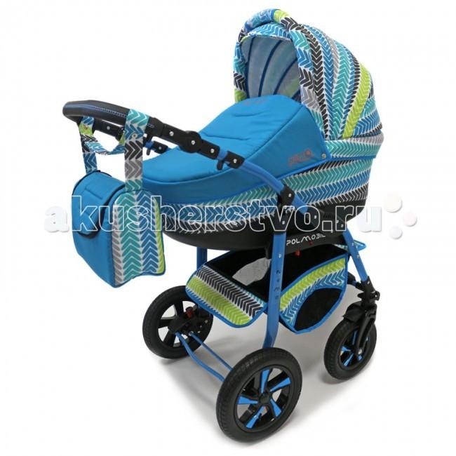 Коляска Polmobil Nemo Lux 2 в 1Nemo Lux 2 в 1Универсальная детская коляска Nemo Lux 2в1 от Польского производителя Polmobil предназначена для детей с рождения и до 3-х лет.  В комплект коляски входит спальная люлька для новорожденного и прогулочный блок для подросшего малыша, которые можно устанавливать по ходу движения или против хода движения. Люлька коляски  комфортная и удобная, сделана внутри из 100 % хлопка. Дно люльки – жесткое, это очень важно для правильного формирования позвоночника новорожденного малыша. Прогулочное сидение легко устанавливается на раму, имеет пятиточечные ремни безопасности, съемный бампер, регулируемое положение спинки. Для удобства родителей предусмотрены регулировка высоты ручки, корзина для покупок и сумка для мамы.  Колеса надувные, камерные, с современной системой амортизации. Передние поворотные колеса с фиксатором делают эту модель коляски маневренной и легкоуправляемой. Задние колеса, обеспечивают хорошую проходимость и позволяют преодолевать любые препятствия по бездорожью на прогуле. Ширина колесной базы позволяет с легкостью входить в стандартные лифты и двери, что не вызовет трудностей с транспортировкой коляски.  Яркая ткань и цветная рама создадут хорошее настроение вам и вашему малышу и не оставят равнодушным окружающих! Эффектное сочетание однотонной и цветной печатной ткани.   Люлька Nemo:  • Просторная пластиковая люлька с жестким дном  • Верхняя часть из водонепроницаемой ткани  • Не продуваемые борта  • Регулируемый по высоте подголовник  • Удобная ручка для переноски, расположенная  на капюшоне • Бесшумный механизм регулировки капюшона • Внутренняя вкладка выполнена из 100% хлопка, легко снимается для стирки • Матрасик для новорожденного • Возможность установки люльки в 2 положениях (лицом к маме, или лицом по направлению движения коляски) • Размеры внутренние люльки (ДхШхВ): 75х34х17 см.  • Вес: 4.53 кг.   Прогулочный блок Nemo:  • 4 положения регулировки спинки, в том числе до горизонтального • Регулируемая поднож