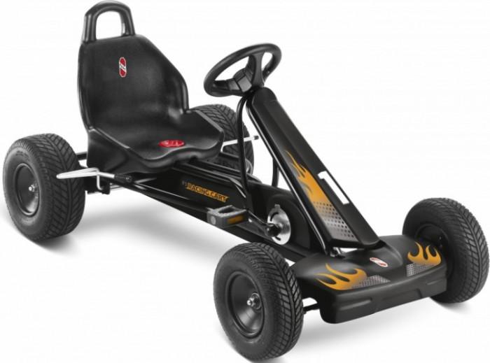 Puky F1LF1LДетская педальная машина Puky F1L - это прекрасная замена обычному велосипеду, ребенок с легкостью пересядет на нее, и поверьте, не останется равнодушным к такому замечательному транспорту! Данная модель просто роскошный выбор для малыша.   Великолепный дизайн, изысканный черно-красный насыщенный цвет, регулировка руля и сиденья. Еще одна особенность Puky F 1 L - это свободный переход с переднего на задний ход без коробки передач, чтобы ребенок не убирал руки с руля и не отвлекался от дороги. Так же, как и вся продукция от немецкого бренда эта игрушка невероятно качественная и безопасная, любая деталь продуманна до мелочей.  Для детей: от 5 до 10 лет вес до 50 кг рост: от 115 см длина ноги: от 75 см - 105 см   Характеристики: Колеса: пневматические колеса на шарикоподшипниках передние &#216;260х80 мм, задние &#216;290х125 мм Рама: высокопрочная стальная, со специальным износостойким покрытием, которое не выгорает на солнце и устойчиво к повреждениям Сидение: с быстрой регулировкой под рост ребенка, эргономичное пластмассовое с шероховатым покрытием против соскальзывания Тормоза: ручной тормоз на оба задних колеса Регулируемое натяжение цепи, привода задних колес Защита цепи Спортивный руль с сигналом Спойлер с обтекаемым современным дизайном, защитный бампер Автоматический свободный ход педалей вперед и назад Вес: 21.8 кг<br>