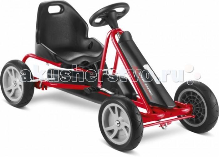 Puky F20F20Детская педальная машина Puky F20 - самая маленькая и легкая в своем сегменте. Представляемая модель отличается своим великолепным дизайном, настоящей комфортабельностью и повышенной безопасностью. Низкая посадка F20 обеспечивает ей дополнительную устойчивость и особенную безопасность.   Особенность Puky F 20 - это свободный переход с переднего на задний ход без коробки передач, чтобы ребенок не убирал руки с руля и не отвлекался от дороги. В целом - это одно из лучших предложений для детей возрастом от трех лет. Вручите своему ребенку радость от управления и езды на этом великолепном транспорте.  Для детей: от 3 до 5 лет вес до 30 кг рост: от 95 см длина ноги: от 56 см - 85 см   Характеристики: Колеса: литые из ПВХ на шарикоподшипниках (не нуждаются в подкачке, не боятся проколов) Рама: высокопрочная стальная, со специальным износостойким покрытием, которое не выгорает на солнце и устойчиво к повреждениям Сидение: регулируется под рост ребенка, эргономичное пластмассовое с шероховатым покрытием против соскальзывания Тормоза: ручной тормоз Регулируемое натяжение цепи, привода задних колес Защита цепи Спортивный руль с сигналом Передний спойлер Вес: 10.5 кг<br>