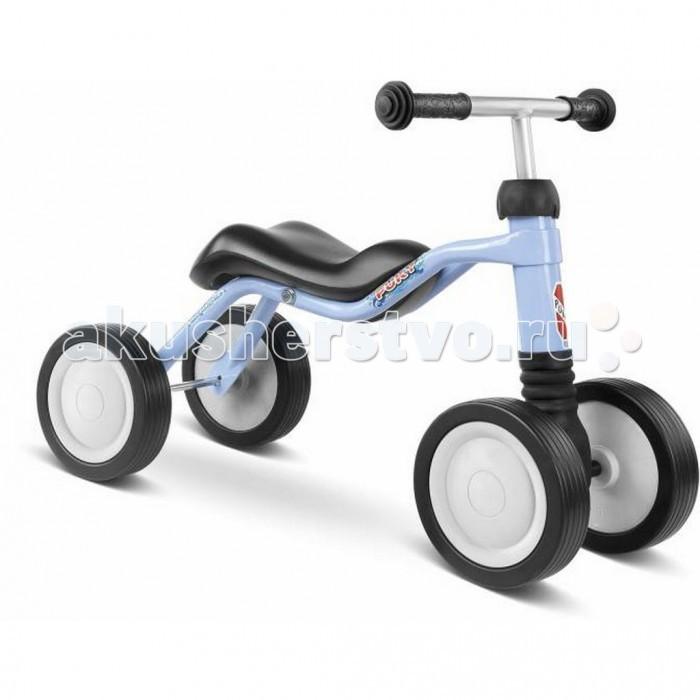 Беговел Puky WutschWutschPuky Wutsch - отличный транспорт для развития баланса и координации ребенка от 1 года! Беговел-каталка Wutsch - самый первый транспорт для малыша. Он позволяет крепко встать на ноги и дает первые навыки балансирования. Руль сделан качающимся, развивая вестибулярный аппарат малыша и чувство равновесия. При движении каталка не создает никакого шума (что особенно важно для родителей).  В отличии от подавляющего большинства каталок седло очень эргономично. Оно довольно узкое, в результате не мешает, а помогает шагать. Высота седла - 24 см, каталка подойдет деткам ростом от 80 см.  Вес - всего 2.76 кг, малыш в состоянии управляться своим новым конем самостоятельно.  Материалы: металлический корпус сделан в соответствии с европейскими требованиями стандарта, качества и безопасности для детских товаров высокое качество окраски  Характеристики: предназначен для катания детей от года, на рост 80 до 92 см максимальная устойчивость и безопасность легкий вес легко катится 4 бесшумных колеса эргономичное седло безопасные ручки с накладками на руле максимальная нагрузка - 20 кг   Общие размеры: высота седла  24 см размер седла (дхшхв)  58x28x24 см колесная база  28 см Вес:  2.76 кг<br>