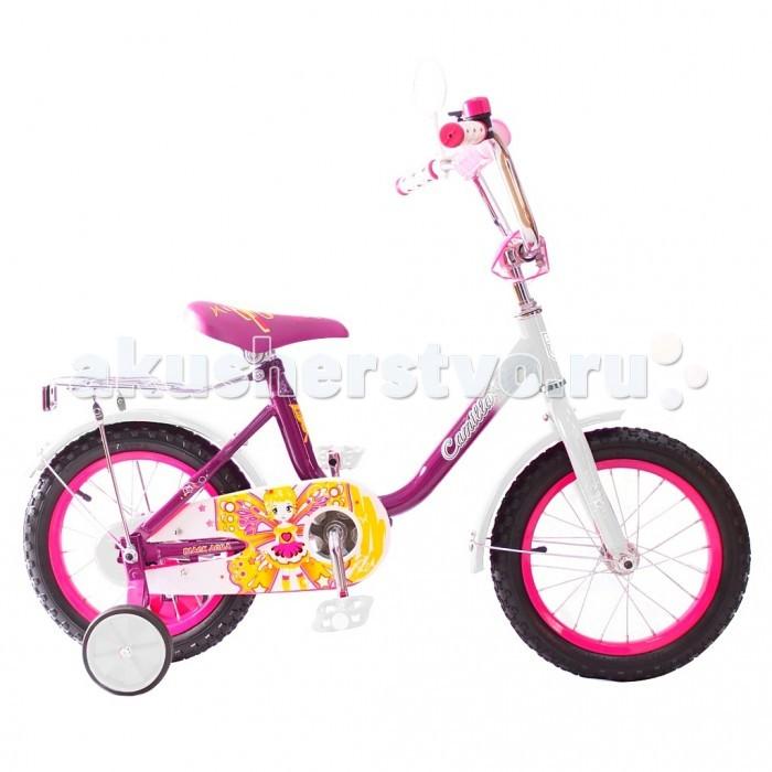 Велосипед двухколесный R-Toys BA Camilla 16BA Camilla 16Двухколесный велосипед BA Camilla 16 с боковыми колесами на усиленных кронштейнах. Ребенку проще привыкнуть к габаритам двухколесной модели, если она имеет дополнительные колесики для устойчивости. Когда рулевое управление будет доведено до совершенства, можно переходить к тренировкам поддержания равновесия на велосипеде без боковых колес.  Особенности велосипеда: прочная стальная рама стойкое антикоррозийное покрытие рамы удлиненные стальные крылья обод стальной руль ВМХ, по центру - мягкая накладка съемные боковые колеса с жесткой прорезиненной поверхностью усиленный кронштейн боковых колес надувные 16-дюймовые колеса на подшипниках количество скоростей - 1 защитный кожух на велоцепи тормоз задний ножной багажник-хром зеркало заднего вида на гибкой ножке звонок на руле<br>