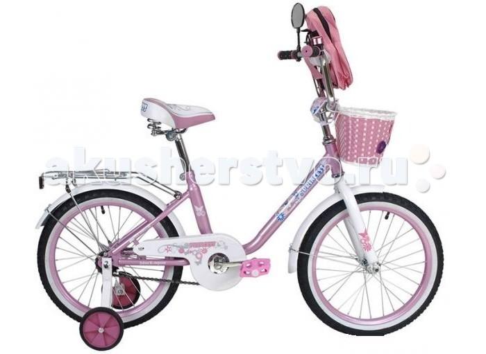 Велосипед двухколесный R-Toys BA Princess 16BA Princess 16Двухколесный велосипед BA Princess 16 с боковыми колесами на усиленных кронштейнах. Ребенку проще привыкнуть к габаритам двухколесной модели, если она имеет дополнительные колесики для устойчивости. Когда рулевое управление будет доведено до совершенства, можно переходить к тренировкам поддержания равновесия на велосипеде без боковых колес.  Особенности велосипеда: прочная стальная рама стойкое антикоррозийное покрытие рамы удлиненные стальные крылья обод стальной руль ВМХ, по центру - мягкая накладка съемные боковые колеса с жесткой прорезиненной поверхностью усиленный кронштейн боковых колес надувные 16-дюймовые колеса на подшипниках количество скоростей - 1 защитный кожух на велоцепи тормоз задний ножной багажник-хром зеркало заднего вида на гибкой ножке звонок на руле<br>