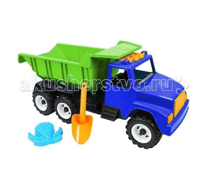 R-Toys Автомобиль Интер BIG ОР184Автомобиль Интер BIG ОР184R-Toys Автомобиль Интер BIG на 6 широких и проходимых колесах понравится юному автомобилисту - любителю больших и прочных машин.   Особенности: Такая игрушка будет незаменима в песочнице, с ней можно играть бесконечно, перевозить песок и многое другое.  Игра с такими большими самосвалами позволяет в полной мере имитировать реальные погрузочно-разгрузочные работы, дает возможность применить ребенку свою фантазию, помогает разыгрывать различные ситуации.  Это идеальная игрушка для игр на открытом воздухе и отлично подойдет для игры на даче, во дворе, на загородных участках, на площадках, в песочницах. Эти самосвалы отличаются высоким качеством, дизайном и функциональностью. Яркий и красивый дизайн понравится Вашему малышу!  Эта машина способна решать большие воспитательные задачи, развивает много хороших качеств: помощь друзьям и взрослым, ответственность, заботу, доброту и внимание.  Детская машина - самосвал Интер BIG — это пластмассовая игрушка, изготовленная из высококачественного сырья.  В производстве этих машин используются безопасные материалы.  Пластик не деформируется и не выгорает под солнцем.  Рекомендуется для детей от 2 лет.  В комплекте: большая лопатка и формочка в виде осьминога для игр в песочнице.<br>