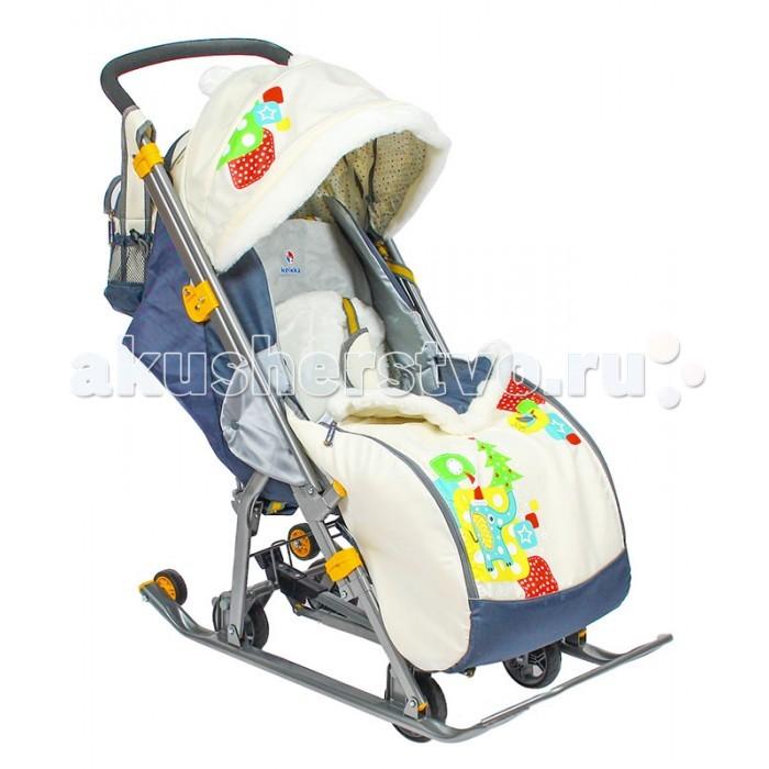 Санки-коляска R-Toys Kelkka Arctic на больших колесах