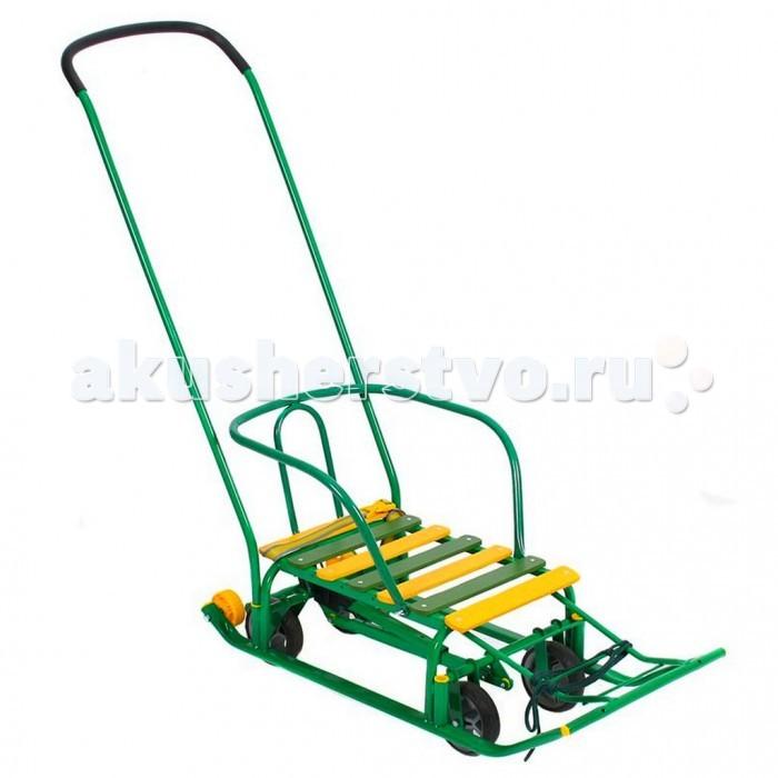 Санки R-Toys Kelkka Buran на больших колесах + 2 маленьких колеса