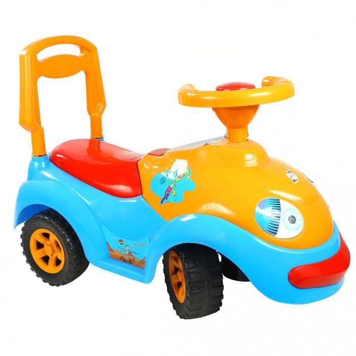 Каталка R-Toys ЛуноходикЛуноходикКаталка R-Toys Луноходик с музыкальным рулем.  Особенности: Машинка имеет музыкальный руль.  Эргономика сиденья-10 баллов.  Конструкция каталки сделана таким образом, что детская машинка полностью защищена от переворачивания или других происшествий на дороге.  Каталкой управлять предельно просто, это поймет даже самый маленький ребенок.  Ребенок может садиться на удобное сиденье, отталкиваться ножками и ехать, держась за руль каталки и поворачивая передними колесами.  Каталка сделана из высококачественного пластика , который не подвержен перепаду температур, не деформируется и не выгорает под солнцем.  Езда на каталке стимулирует ребенка к активным движениям и развитию.  В процессе игры развивается общая моторика, умение управлять своим телом.  В процессе езды ребенок познает окружающий мир, фантазирует и развивает воображение.  Очень устойчивые, широкие и проходимые колеса легко справятся с любым покрытием дорог.  Крутящиеся большие колеса позволяют ездить самому, катать машину руками или возить за веревочку.  Эту каталку можно использовать и дома, и на улице.  Яркий цвет и дизайн покорит с первого взгляда и Ваш малыш не захочет расставаться с каталкой.  Под сиденьем расположен вместительный багажник, а сзади красуется декоративная запаска.  Максимальная нагрузка 25 кг.  Рекомендуется для детей от 10 месяцев.   Размеры каталки: 62х45х32 см.<br>
