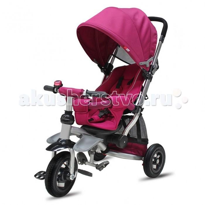 """Велосипед трехколесный R-Toys Modi 2016 Air StrollerModi 2016 Air StrollerВелосипед трехколесный R-Toys Modi 2016 Air Stroller на надувных колесах для детей от 6-8 месяцев.   Особенности: У модели Modi 2016 Air Stroller - мягкие надувные колеса и большое сиденье с мягкими уплотненными бортиками как у коляски.  Сиденье можно наклонить до положения не только полулежа, но и совсем лежа, повернуть лицом к маме или лицом к дороге. Создается идеальное место для отдыха и сна в путешествии. Но в то же время Вы сможете использовать этот велосипед до 5 лет. Оцените это в новом велосипеде MODI 2016 от RT.  Модель AIR Stroller имеет широкую Родительскую ручку как у коляски, усиленную и прочную. Ручку можно менять по высоте, подстраивая ее под любой рост взрослого. Удобная колясочная Родительская ручка установлена под идеальным углом и подходит под любой рост взрослого - Вы оцените эргономику. Созданная по инновационным технологиям ручка очень прочная.  Эргономика сиденья- 10 баллов. А наклонить сиденье до уровня лежа-полулежа можно легко и просто.  Съемный барьер безопасности очень тверд и надежен. Легко и быстро снимается при необходимости.  3-х точечные ремни безопасности защитят от выпадения и остановят непоседу. На задних колесах установлен ножной тормоз, которым можно воспользоваться при остановке. Это очень удобно. Функция- """"свободное колесо"""". Пластиковый диск расположен на переднем колесе. Небольшим усилием Вы можете вытаскивать диск наружу или ставить на место. Таким образом, Вы фиксируете педали и малыш может кататься на велосипеде, а можно дать им свободный ход и крутить педали взад- вперед, когда велосипедом управляет взрослый.  У велосипеда есть уникальные подножки-лепестки, которые крепятся на раму и очень эргономично расположены по отношению к телу ребенка. Ваш малыш оценит это когда ножки малыша устанут и он захочет положить их на подножки. Но когда малыш подрастет, то с легкостью сможет пользоваться другими складными подножками под сиденьем велосипеда.  Очень вм"""