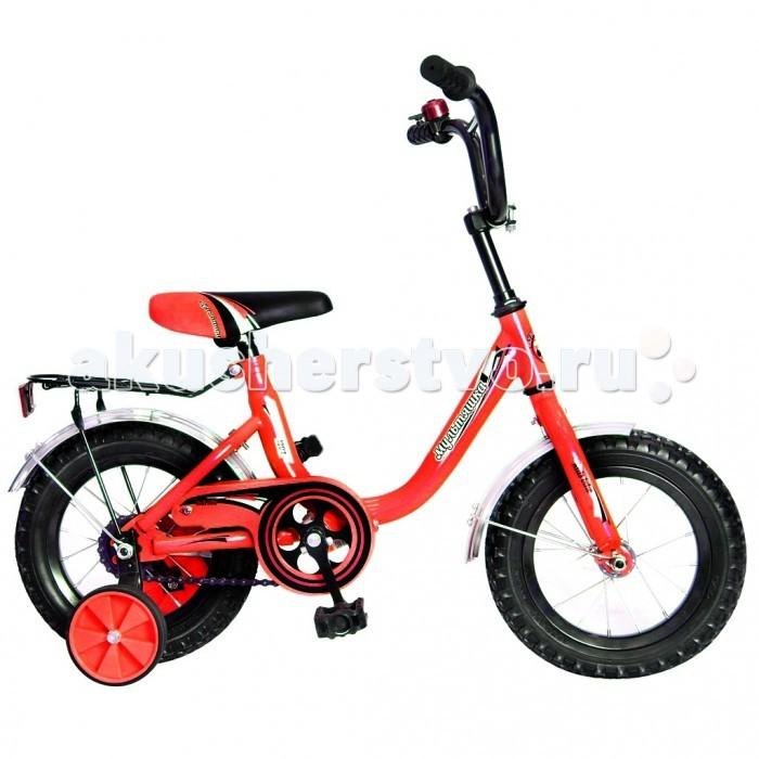 Велосипед двухколесный R-Toys Мультяшка 1204 12Мультяшка 1204 12Двухколесный велосипед Мультяшка 1204 12 с боковыми колесами на усиленных кронштейнах. Ребенку проще привыкнуть к габаритам двухколесной модели, если она имеет дополнительные колесики для устойчивости. Когда рулевое управление будет доведено до совершенства, можно переходить к тренировкам поддержания равновесия на велосипеде без боковых колес.  Особенности велосипеда: прочная стальная рама стойкое антикоррозийное покрытие рамы удлиненные стальные крылья обод стальной руль ВМХ, по центру - мягкая накладка съемные боковые колеса с жесткой прорезиненной поверхностью усиленный кронштейн боковых колес надувные 12-дюймовые колеса на подшипниках количество скоростей - 1 защитный кожух на велоцепи тормоз задний ножной багажник звонок на руле<br>