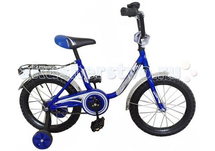 Велосипед двухколесный R-Toys Мультяшка 1404 14Мультяшка 1404 14Двухколесный велосипед Мультяшка 1404 14 с боковыми колесами на усиленных кронштейнах. Ребенку проще привыкнуть к габаритам двухколесной модели, если она имеет дополнительные колесики для устойчивости. Когда рулевое управление будет доведено до совершенства, можно переходить к тренировкам поддержания равновесия на велосипеде без боковых колес.  Особенности велосипеда: прочная стальная рама стойкое антикоррозийное покрытие рамы удлиненные стальные крылья обод стальной руль ВМХ, по центру - мягкая накладка съемные боковые колеса с жесткой прорезиненной поверхностью усиленный кронштейн боковых колес надувные 14-дюймовые колеса на подшипниках количество скоростей - 1 защитный кожух на велоцепи тормоз задний ножной багажник звонок на руле<br>