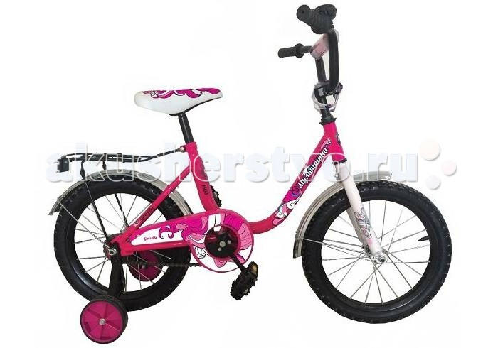 Велосипед двухколесный R-Toys Мультяшка 1603 16Мультяшка 1603 16Двухколесный велосипед Мультяшка 1603 16 с боковыми колесами на усиленных кронштейнах. Ребенку проще привыкнуть к габаритам двухколесной модели, если она имеет дополнительные колесики для устойчивости. Когда рулевое управление будет доведено до совершенства, можно переходить к тренировкам поддержания равновесия на велосипеде без боковых колес.  Особенности велосипеда: прочная стальная рама стойкое антикоррозийное покрытие рамы удлиненные стальные крылья обод стальной руль ВМХ, по центру - мягкая накладка съемные боковые колеса с жесткой прорезиненной поверхностью усиленный кронштейн боковых колес надувные 16-дюймовые колеса на подшипниках количество скоростей - 1 защитный кожух на велоцепи тормоз задний ножной багажник звонок на руле<br>