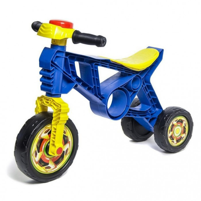 Беговел R-Toys Самоделкин ОР171Самоделкин ОР171Беговел R-Toys Самоделкин ОР171 на 3 колесах.   Особенности: Самое главное ее преимущество- легкий вес- 1 кг!  Беговел имеет 3 колеса -передние поворачиваются за счет поворота руля. Очень устойчивая и компактная - даже самому маленькому малышу от 1 года будет легко управлять и маневрировать беговелом, отталкиваясь ножками.  Это первая каталка- беговел ребенка, которая позволит научиться держать равновесие, сохранять баланс тела при езде. Ваш малыш быстро и легко сможет понять как балансировать и сохранять равновесие.  Очень эргономичное сиденье для самых маленьких малышей. Высота сиденья- 22 см, что идеально для самых маленьких малышей от 1 - 1,5 годика.  Беговел относится к категории развивающих игрушек.  Ребенок учится управлять своим телом, тренирует вестибулярный аппарат, с первых минут старается ехать на беговеле, перебирая ножками. Это очень развивает малышей физически и доставляет им удовольствие от езды.  Когда малыш толкает беговел, перебирая ножками, развивается общая моторика, укрепляются одновременно несколько групп мышц спины, рук, ног, живота. Польза каталки- беговела неоспорима.  Есть удобное отверстие для переноски каталки.  На руле - клаксон.  Отвечает всем стандартам безопасности.  Максимальная нагрузка- 20 кг.  Рекомендуется для детей от 1-1,5 года.<br>