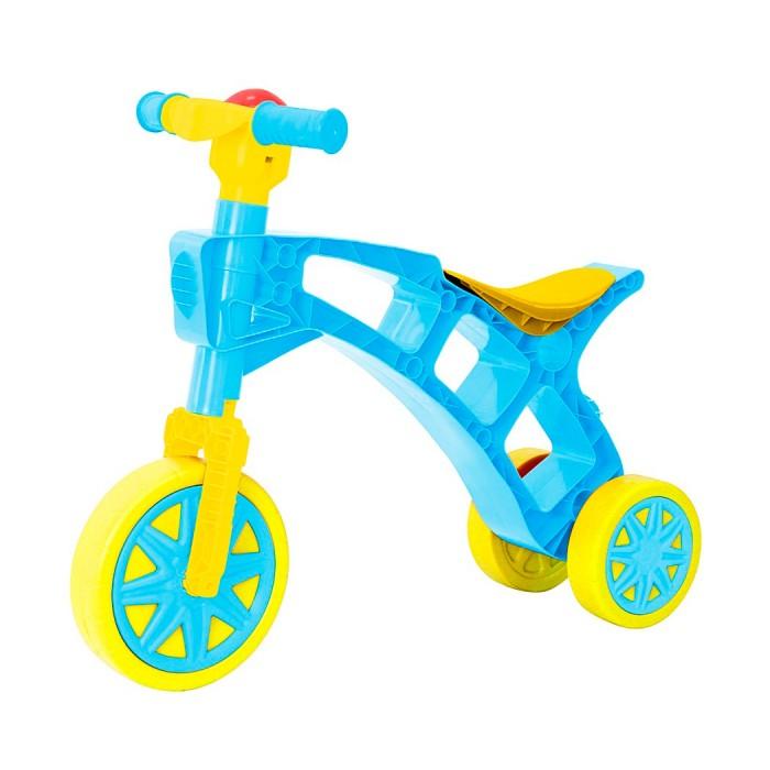 Беговел R-Toys Самоделкин Т2759Самоделкин Т2759Беговел R-Toys Самоделкин Т2759 на 3 колесах.   Особенности: Самое главное ее преимущество - легкий вес - 1 кг!  Беговел имеет 3 колеса - переднее поворачиваются за счет поворота руля. Очень устойчивая и компактная - даже самому маленькому малышу от 1 года будет легко управлять и маневрировать беговелом, отталкиваясь ножками.  Это первая каталка-беговел ребенка, которая позволит научиться держать равновесие, сохранять баланс тела при езде. Ваш малыш быстро и легко сможет понять как балансировать и сохранять равновесие.  Очень эргономичное сиденье для самых маленьких малышей. Высота сиденья - 27 см, что идеально для самых маленьких малышей от 1 - 1.5 годика.  Беговел относится к категории развивающих игрушек.  Ребенок учится управлять своим телом, тренирует вестибулярный аппарат, с первых минут старается ехать на беговеле, перебирая ножками. Это очень развивает малышей физически и доставляет им удовольствие от езды.  Когда малыш толкает беговел, перебирая ножками, развивается общая моторика, укрепляются одновременно несколько групп мышц спины, рук, ног, живота. Польза каталки-беговела неоспорима.  Есть удобное отверстие для переноски каталки.  На руле - клаксон.  Отвечает всем стандартам безопасности.  Максимальная нагрузка - 20 кг.  Рекомендуется для детей от 1-1.5 года.<br>
