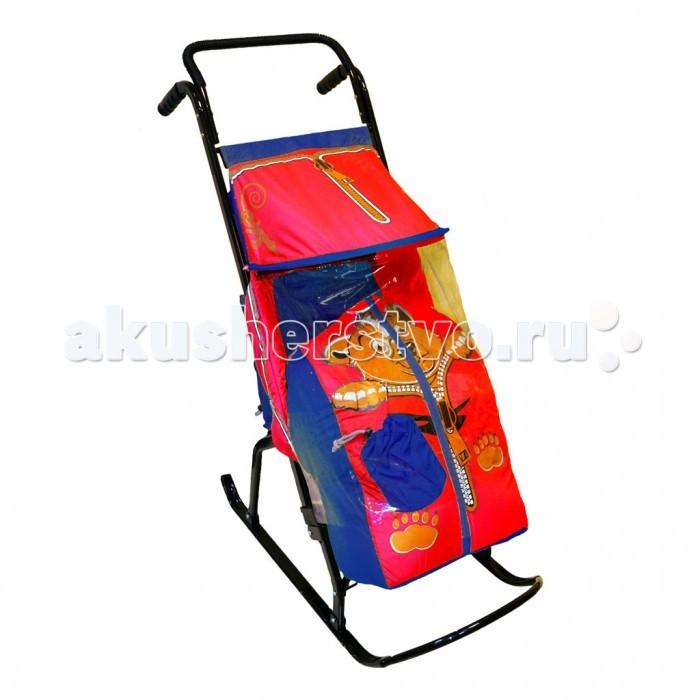 Санки-коляска R-Toys Снегурочка 2-Р Медвежонок