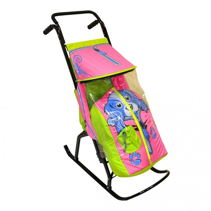 Санки-коляска R-Toys Снегурочка 2-Р Собачка