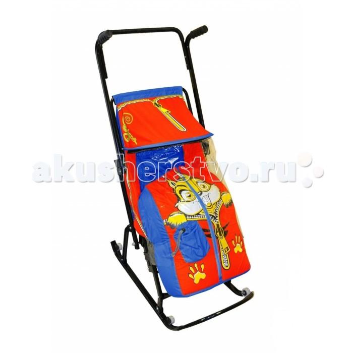 Санки-коляска R-Toys Снегурочка 4-Р Бельчонок