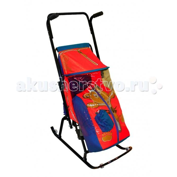Санки-коляска R-Toys Снегурочка 4-Р Медвежонок