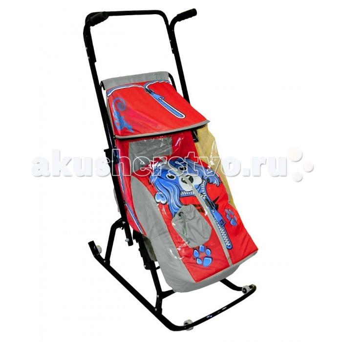 Санки-коляска R-Toys Снегурочка 4-Р Собачка