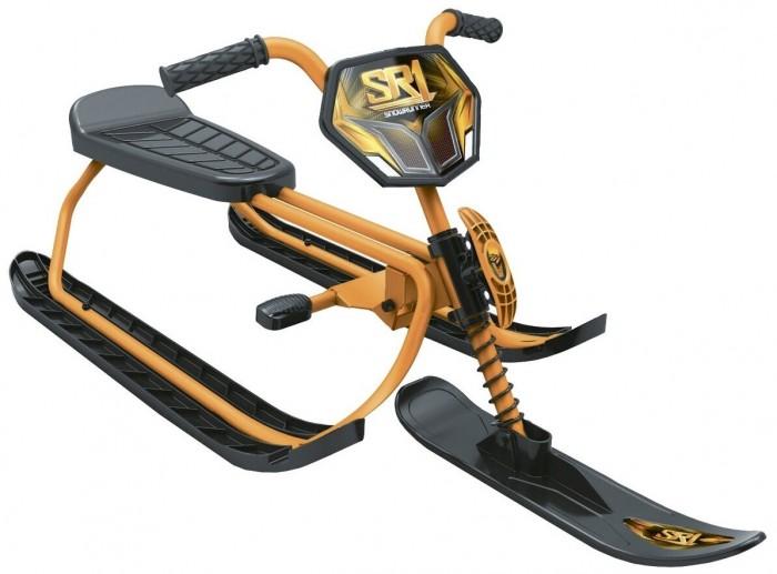 Снегокат R-Toys SnowRunner SR1SnowRunner SR1Эксклюзивно для компании RT SnowRunner SR1.Это самый легкий в мире снегокат! За счет облегченной стали с алюминием снегокат весит всего 4 кг!  Особенности: Карвинговые лыжи! Оцените это вместе с Вашим малышом! Все гениальное -просто. Особенности снегоката - мощный стальной амортизатор на передней вилке,карвинговые лыжи предназначены для езды по любым поверхностям-по снежному или обледенелому склону. Очень надежный стальной тормоз. Уникальное регулируемое сиденье с небольшой спинкой. С помощью передвижения сиденья по трубе вперед-назад, Вы легко можете настроить его под Вашего малыша. Очень оригинальный шнур с рукояткой-наматывается и насаживается на переднюю вилку рамы. Очень мягкие резиновые ручки. И каждая коробка еще и в полиэтиленовой упаковке. Рекомендуется детям от 5 лет.  Максимальная нагрузка 40 кг.<br>