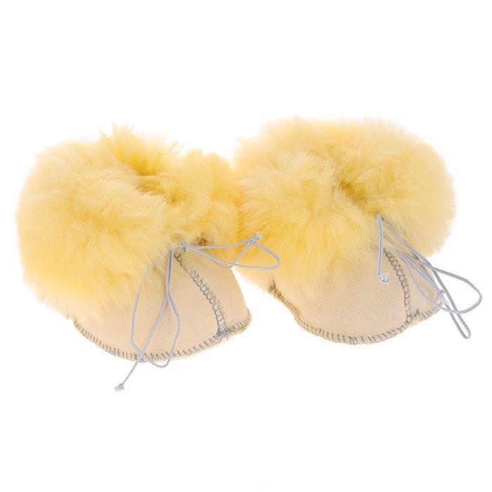 Ramili Носочки-пинетки Baby Basic из медицинской овчинки