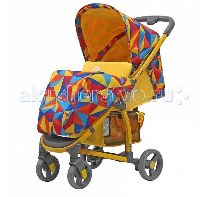Прогулочная коляска Рант Vira AluVira AluФункциональная и удобная коляска Vira Alu обладает отменными эксплуатационными качествами и надежностью. Прогулочный блок для подросшего малыша имеет достаточно широкое и комфортное посадочное место. Спинка сиденья имеет плавную и многоуровневую регулировку с помощью ремня. Предусмотрено положение для сна.   Коляска адаптирована к прогулкам в любое время года. От солнца, ветра или осадков защищает увеличенный капюшон и накидка на ножки. Съемная ручка-бампер (ручка перед ребенком) легко снимается полностью, либо его можно откинуть на одну сторону, чтобы посадить ребенка в коляску. Обезопасят малыша в коляске регулируемые пятиточечные ремни безопасности с мягкими плечевыми накладками. Для удобства родителей на раме предусмотрен подстаканник для бутылочки и вместительная корзина для детских принадлежностей или покупок.  За счет облегченной алюминиевой рамы коляска легкая и удобная. Имеет узкую колёсную базу - всего 56 сантиметров, позволяющую провезти коляску в любые двери лифтов и подъездов. Коляска маневренная, обладает плавным ходом. Передние колёса снабжены поворотным механизмом на 360° градусов, с возможностью фиксации колеса в положении «прямо». Задние колеса надежно фиксирует центральный ножной тормоз. Коляска Vira Alu быстро и компактно складывается «книжкой» кнопкой на ручке, не занимает много места при транспортировке и хранении.   Характеристики:  Возраст: от 6 мес. до 3-х лет Материал: водоотталкивающая, не продуваемая, дышащая ткань.  Регулировка высоты спинки ремнями, предусмотрено положение для сна  Пятиточечный ремень безопасности с мягкими плечевыми накладками  Увеличенный капюшон с окошком и карманом Съемный подстаканник на ручке Съемная ручка-бампер с тканевым чехлом на молнии Ламинированная подножка регулируется по высоте Материал рамы: алюминий  Механизм складывания: «книжка» (кнопки на ручках) Фиксируется зажимом в сложенном виде Материал колес: пластик Передние колеса поворотные (360°) с фиксатором Централ