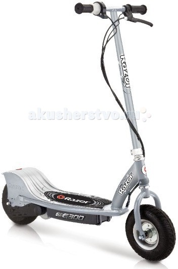 Самокат Razor E300 (электро)E300 (электро)Электросамокат Razor E300 – это очень яркие и радостные эмоции от управления таким удобным, легко управляемым, современным, стильным и просто комфортным электросамокатом.  С E300 справится любой, кто пробовал кататься! Если навыков совсем нет, то быстрому обучению будет способствовать именно удобная надежная конструкция электросамоката E300 темно-серый.  Нужно просто разочек преодолеть себя, и все быстро получится! Каждый имеет право на счастливые моменты, которые способны подарить спортивные товары при полезных тренировках на воздухе.  Особенности: От 12 лет Подходит подросткам и взрослым ростом от 140 до 200 см. Максимальная нагрузка 100 кг Вес электросамоката 20.8 кг. Тихий надежный электромотор Мощность электромотора 250W Скорость до 24 км/час Время полной зарядки 7 часов До 60 минут непрерывного хода на полной зарядке Защищен от брызг и ударов Разбирается для удобного хранения и транспортировки Широкие колеса с автомобильным ниппелем Фиксированная высота руля (от деки) 89 см. Фиксированная высота руля (от земли) 106 см. Ширина платформы для ног (ширина деки) 22 см. Полезная длина деки (место для ног) 67 см. Общая длина самоката 104 см. Дорожный просвет (клиренс) 11 см. Ширина руля 42.5 см. Не требует сервисного обслуживания Требуется частичная сборка<br>