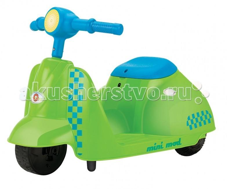 Электромобиль Razor электроскутер Mini Modэлектроскутер Mini ModСтильный электрический скутер Mini Mod для самых маленьких райдеров. Яркий, красивый, надёжный электроскутер для детей от 3 лет подарит Вашему ребёнку массу эмоций, улыбок и радости!  Особенности: От 3 лет Для детей ростом от 80 до 120 см. Максимальная скорость 3.5 км/час Максимальная нагрузка 20 кг. Запас хода на 40 минут Адаптированный мотор для маленьких райдеров АКБ свинцово-кислотные на 6В Педаль активации мотора Мягкая резина для комфортной езды Помогает стимулировать и развивать координацию Ширина руля 37 см. Длина электроскутера 63 см, ширина 38 см. Требуется частичная сборка<br>