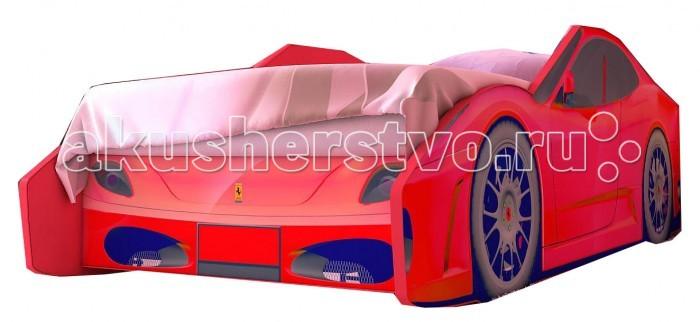 Детская кроватка Red-River машина Феррари Экономмашина Феррари ЭкономДетская кроватка Red-River машина Феррари Эконом - модель гоночного автомобиля, которая по своей цветового гамме и дизайну может подойти и мальчикам и девочкам. Дизайн машины полностью соответствует формам современного автомобиля.  Кровать машина имеет размеры позволяющая использовать ее на протяжении всего процесса роста  ребенка. Правда, если только если родителям не захочется сменить машину на новую  модель. В качестве материалов используется экологичное ЛДСП и ламинированная фотопечать, что значительно увеличивает срок службы кровати автомобиля.  Особенности: предназначена для детей от 2 до 10 лет красивый оригинальный дизайн прочная устойчивая конструкция дно кровати одноуровневое фотопечать на задней спинке независимое каркасное ортопедическое основание идеально вписывается в интерьер современной детской подъемный механизм - Нет ламели крепятся на направляющие расположенные со стороны спального места изнутри.  Спальное место: 160x70 см<br>