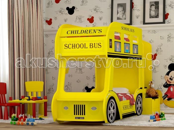Детская кроватка Red-River двухъярусная Автобус - Red River двухъярусная Автобус