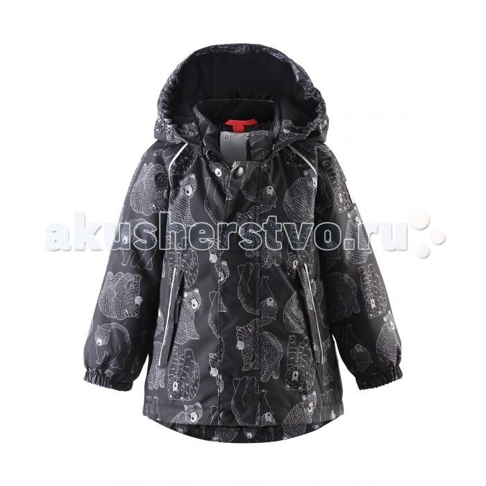 Reima Зимняя куртка Reimatec BjornЗимняя куртка Reimatec BjornДень, полный энергии! Непромокаемая зимняя куртка для малышей с рисунком просто создана для зимних забав! Она изготовлена из водо- и ветронепроницаемого материала с водо- и грязеотталкивающей поверхностью.  Все швы в куртке Reimatec® проклеены и водонепроницаемы, так что непогода не помешает веселым зимним приключениям! Материал хорошо пропускает воздух, сколько ни бегай - в этой куртке не вспотеешь. Куртку с подкладкой из гладкого полиэстера очень легко надевать и удобно носить с теплым промежуточным слоем. С помощью удобной системы кнопок Play Layers® к этой куртке можно присоединять разные модели флисовых кофт, которые подарят вашему ребенку дополнительное тепло и комфорт в холодные дни.   Съемный регулируемый капюшон защищает от пронизывающего ветра и безопасен во время игр на свежем воздухе. Кнопки легко отстегиваются, если капюшон случайно за что-нибудь зацепится. Капюшон дополнен подкладкой из мягкого полиэстера с начесом. Карманы на молнии сохранят маленькие сокровища, найденные во время прогулки, а светоотражающие детали позволяют хорошо видеть ребенка в темноте. Эта куртка очень проста в уходе, кроме того, ее можно сушить в центрифуге.  Характеристики: Зимняя куртка для малышей Основные швы проклеены и не пропускают влагу Водо- и ветронепроницаемый, дышащий и грязеотталкивающий материал Гладкая подкладка из полиэстра Безопасный, отстегивающийся и регулируемый капюшон Эластичные манжеты Регулируемый подол Два кармана на молнии Безопасные светоотражающие детали Принт по всей поверхности Температурный режим до -20 градусов  Состав: Верх - 100% Полиамид, полиуретановое покрытие, подкладка - 100% полиэстер, утеплитель - синтетический 160г.  Уход: Стирать по отдельности, вывернув наизнанку. Застегнуть молнии и липучки. Стирать моющим средством, не содержащим отбеливающие вещества. Полоскать без специального средства. Во избежание изменения цвета изделие необходимо вынуть из стиральной машинки незамедл