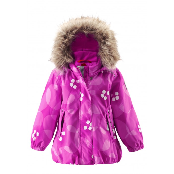Reima Зимняя куртка Reimatec MuhviЗимняя куртка Reimatec MuhviКуртка, которая обязательно понравится маленьким принцессам, сочетает красивый цветочный узор и функциональность! Зимняя мембранная куртка для малышей пошита из водо- и ветронепроницаемого, пропускающего воздух материала, который отталкивает грязь и влагу.  Все швы куртки от Reimatec® проклеены, водонепроницаемы, чтобы никакая погода не смогла помешать весёлым зимним приключениям! Ткань пропускает воздух, поэтому ребёнок не вспотеет, как бы быстро он ни двигался. Куртка с подкладкой из гладкого полиэстера легко надевается и удобно носится с тёплым промежуточным слоем. Вы заметили, что к куртке можно легко пристегнуть многие из промежуточных слоёв Reima? Благодаря удобным кнопкам для пристегивания промежуточного слоя к верхней одежде по системе PlayLayers®, многие флисовые кофты можно пристегнуть к куртке, чтобы малышу было теплее и комфортнее.   Съёмный регулируемый капюшон не только защищает от холодного ветра, но и безопасен во время игр на свежем воздухе! Если закреплённый кнопками капюшон зацепится за что-нибудь, он легко отстегнётся. Когда пойдёте гулять, в карманы на молниях можно положить крошечные сокровища, а светоотражающие детали обеспечат видимость в темноте.   Стиль этой симпатичной куртки подчёркнут пышным подолом, остроконечным капюшоном с отстёгивающейся отделкой из искусственного меха и светоотражателем в форме цветка. Эта куртка не требует особого ухода. Можно сушить в центрифуге.  Характеристики: Зимняя куртка для малышей Все швы проклеены и не пропускают влагу Водо- и ветронепроницаемый, дышащий и грязеотталкивающий материал Крой для девочек Гладкая подкладка из полиэстра Безопасный съемный капюшон с отсоединяемой меховой каймой из искусственного меха Эластичный пояс сзади Эластичные подол и манжеты Регулируемый подол Два кармана на молнии Безопасные светоотражающие детали Принт по всей поверхности Температурный режим до -20 градусов  Состав: Верх - 100% Полиамид, полиуретановое покрыт