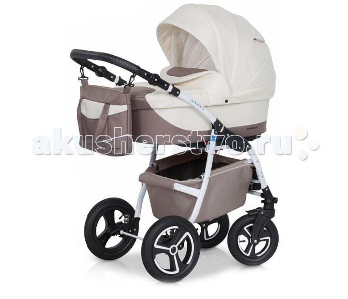 Коляска Riko Angelo 2 в 1Angelo 2 в 1Коляска Riko Angelo 2 в 1  Универсальная детская коляска Angelo 2 в 1 от Польского производителя Riko предназначена для детей с рождения и до 3-х лет.  В комплект коляски входит спальная люлька для новорожденного и прогулочный блок для подросшего малыша, которые можно устанавливать по ходу движения или против хода движения. Люлька коляски  комфортная и удобная, сделана внутри из 100 % хлопка. Дно люльки – жесткое, это очень важно для правильного формирования позвоночника новорожденного малыша.  Прогулочное сидение легко устанавливается на раму, имеет пятиточечные ремни безопасности, съемный бампер, регулируемое положение спинки. Для удобства родителей предусмотрены регулировка высоты ручки, корзина для покупок и сумка для мамы.  Колеса надувные, камерные, с современной системой амортизации. Передние поворотные колеса с фиксатором делают эту модель коляски маневренной и легкоуправляемой. Задние колеса, обеспечивают хорошую проходимость и позволяют преодолевать любые препятствия по бездорожью на прогуле.  Характеристики:   Люлька Angelo:  Непромокаемая тканевая люлька с жестким дном  Регулируемый по высоте подголовник  Вентилируемое смотровое окошко в капюшоне  Удобная ручка для переноски, расположенная  на капюшоне  Регулируемый капюшон  Внутренняя вкладка выполнена из 100% хлопка, легко снимается для стирки  Матрац  для новорожденного  Возможность установки люльки в 2 положениях (лицом к маме, или лицом по направлению движения коляски).   Размеры внутренние люльки:  Ширина 35 см  Длинна 77 см  Глубина 23 см   Прогулочный блок Angelo:  3 положения регулировки спинки, в том числе до горизонтального  Регулируемая подножка  Регулируемый капюшон  Пятиточечные ремни безопасности с мягкими плечевыми накладками  Съемный бампер  Практичная накидка на ножки  Возможность установки прогулочного блока в 2 положениях (лицом к маме, или лицом по направлению движения коляски).   Размеры прогулочного блока:  Ширина 34 см  Глубина 24 см   Рама и к